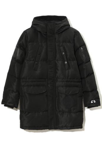 Mini cream black Quilted down coat 54F9BAA1E4D377GS_1