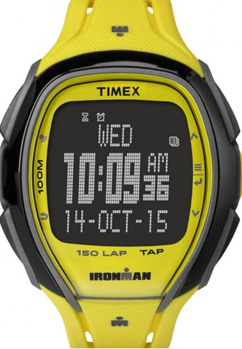 TIMEX yellow Timex IRONMAN® Sleek 150 with Black Case and Resin Strap TI857AC19NSYSG_1