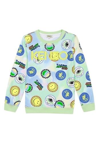 KENZO KIDS yellow and green and blue and multi KENZO BOYS SWEATSHIRT FAB9CKA362781BGS_1