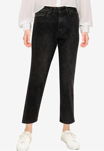 Public Desire black Classic Mom Jeans 41B55AA9636C7AGS_1