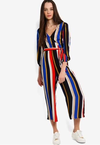 af458b4ef83 Buy Something Borrowed Long Sleeves Wrap Jumpsuit Online on ZALORA ...