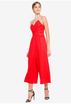 2de0f7db682 20% OFF INDIKAH Ruched Front Bustier Jumpsuit S  95.00 NOW S  75.90 Sizes 8  12