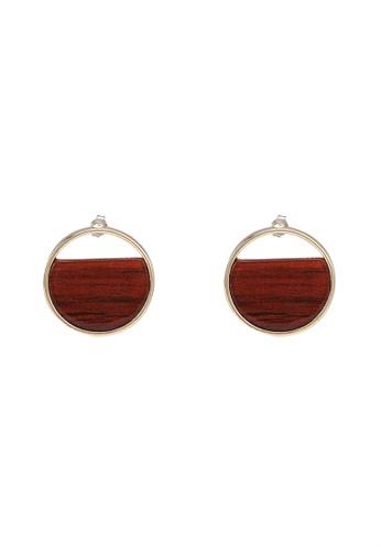 niko and ... brown Circle Dangle Earrings 31B86AC2478F6AGS_1