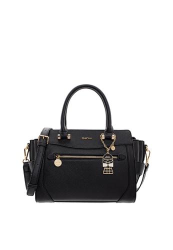 SEMBONIA black SEMBONIA Synthetic Leather Satchel Bag (Black) 092CCAC6DB67E1GS_1