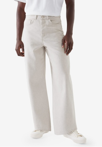 Cos white Relaxed Wide-Leg Jeans F028EAA5DF2345GS_1