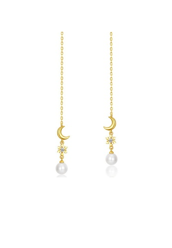 SUNSET gold Premium 925 Sliver Pearl Earring 151BEAC00AB932GS_1