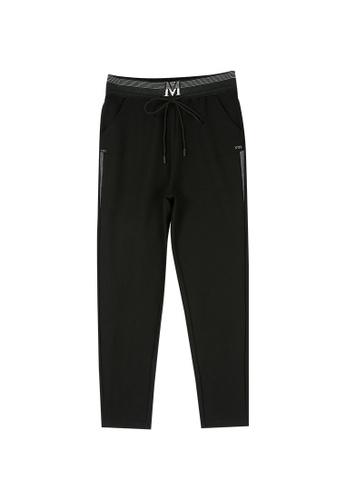 Its Me black Elastic Waist Black Casual Pants 83FD7AAA87A476GS_1