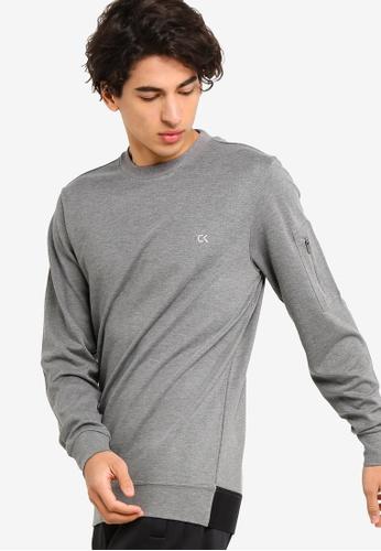 Calvin Klein 灰色 Modular Pullover - Calvin Klein Performance E9578AAB85CB7BGS_1