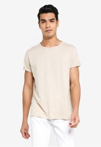 H&M beige Knitted T-Shirt D0DE6AAB82CA5EGS_1