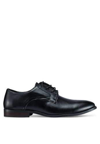 UniqTee black Leather Laced Up Business Shoes 6A884SH64C39B8GS_1