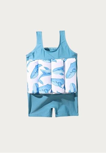 Mommy Hugs blue Baby Whale Floaters Swimwear B0680KA12800E9GS_1
