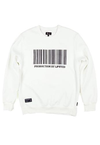 L.I.M.I.T.E 白色 Barcode凸花衛衣 . LI577AA091S2TW_1