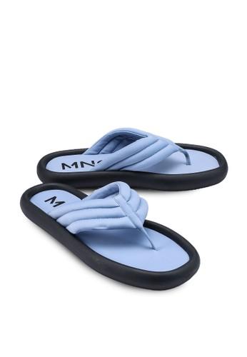 Mango blue Platform Quilted Sandals 6C9E2SHBAE0DC1GS_1