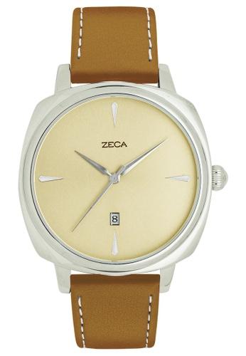 ZECA brown and silver Como Edition Couples Analogue ZE260AC59SLWSG_1
