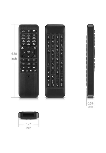 Pepper Jobs black W10 GYRO Air TV Remote, Full Keyboard, Fly Mouse for Win 10, LED Backlit Keyboard and more 8CC03ES10786F0GS_1
