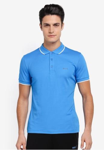 BOSS 藍色 Tech Polo Shirt - Boss Athleisure BO517AA0SRAQMY_1