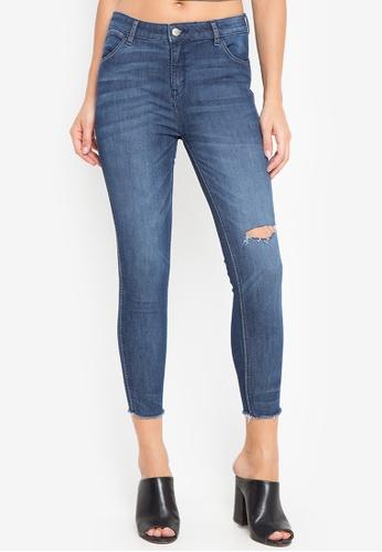 4c1211de Wrangler blue Shape Keeper Regular Rise Ankle Skinny Ripped Jeans in Blue  53444AA3772909GS_1