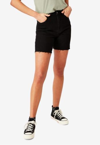 Supre black Mariah Denim Shorts 3B718AA9A0B57BGS_1