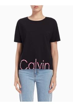 fc9831e61e Calvin Klein black Calvin Klein Flower Logo Tee 64604AA3EB7B3BGS 1