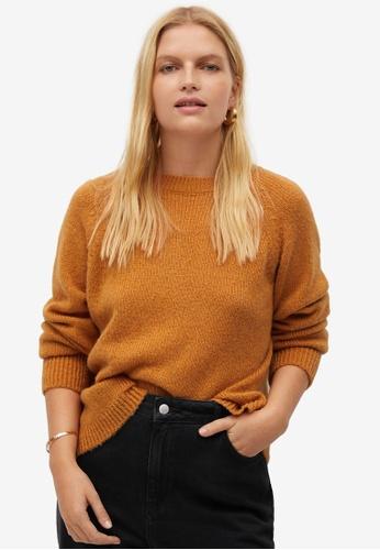 Violeta by MANGO orange Back Bow Sweater 31156AA6762B98GS_1