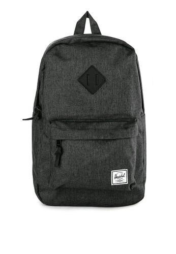 Herschel black Heritage Mid-Volume Backpack 3EA80ACD273E47GS_1
