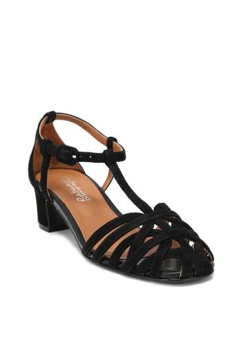769c37904ad6 Buy RABEANCO RABEANCO ESTELLA STRAPPY Mid-Heel Sandals - Black ...