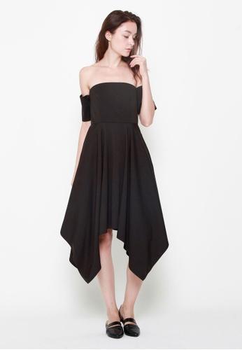QLOTHE black Cian Bandeau Dress A60A4AA886C912GS_1