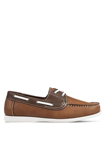 JAXON multi and brown Casual Faux Leather Boat Shoes 12BD3SHBB011C7GS_1