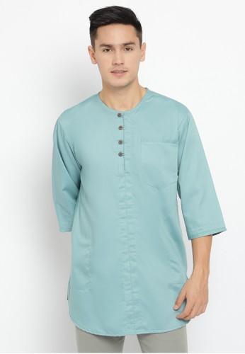 Emikoawa blue Baju Kurta Pria Oman Blue F4DADAAAFE8E81GS_1