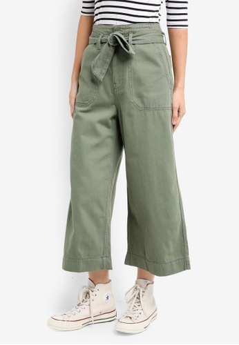 TOPSHOP brown Belted Awkward Wide Trouser DDF9BAA6AA05C5GS_1