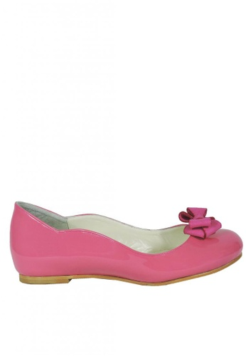 Jacque pink Fiona Pink Flats with Pink Bow JA262SH88FZBMY_1