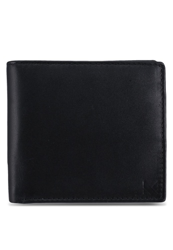Miajee's black RFID genuine leather handcrafted Bifold wallet with Coin Pouch - Black (inner Red) D0988ACE8D7F9BGS_1