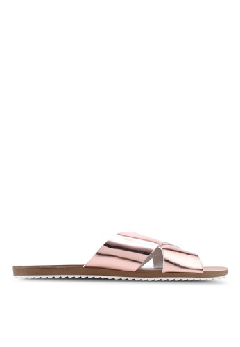 Atmos&Here pink Calista Leather Slides 3A3F1SH29044C1GS_1