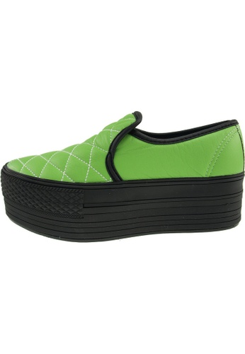 Maxstar Maxstar Women's C50 Stitched Platform PU Slip On Shoes US Women Size MA168SH06BMRHK_1