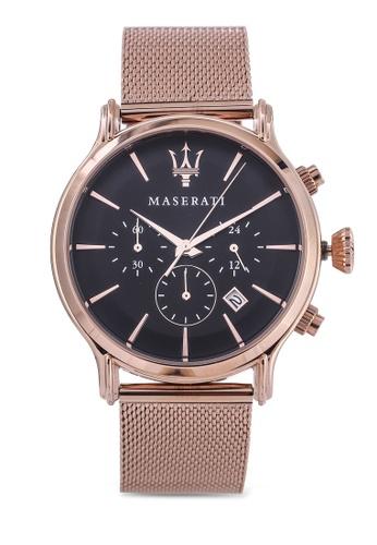 Maserati gold Epoca Ext 42mm Chronograph Men's Bracelet Watch MA410AC66HHXMY_1