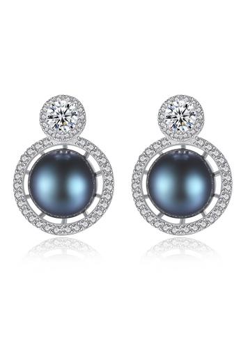 A.Excellence black Premium Black Pearl Elegant Earring 20800AC0F72318GS_1