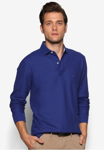 Tommy Hilfiger blue 50/2 PERFORMANCE POLO L/S RF TO861AA49JKOMY_1