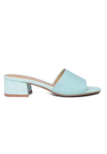 Byford green Claribet Open Toe Heel Slide Sandals 23794SHD39BBB0GS_1