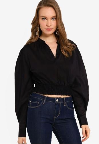 GUESS black Long Sleeve Ryder Top A5336AAA7605B4GS_1
