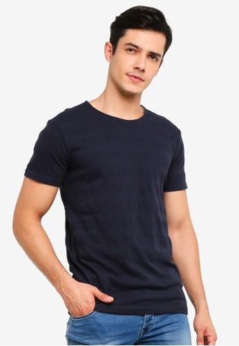 !Solid navy Rekker Acid Washed T-Shirt 754DEAA9702DDAGS_1