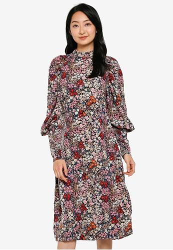Vero Moda pink Selma Long Sleeves Midi Dress CCE46AA2005558GS_1