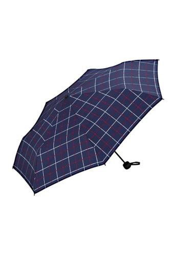 WPC blue WPC Unisex Basic Folding Umbrella (Window Pane Mini) C3761AC502F5BAGS_1