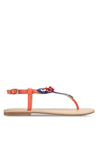 ZALORA orange Flat Sandals 70D14SH2AC7E5BGS_1