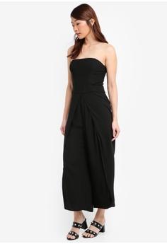 a4250e9fce2ea3 60% OFF Miss Selfridge Black Split Leg Bandeau Jumpsuit RM 263.25 NOW RM  104.90 Sizes 6 12