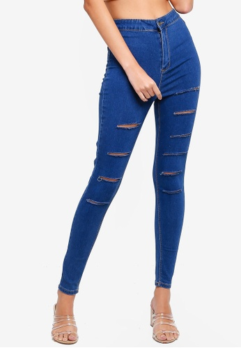 Supre blue The Sky High Ultra Ripped Jeans 44E42AA58DCD1DGS_1