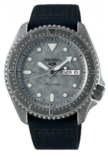 Seiko black and grey Seiko Automatic Winding 24 Jewels SRPE79K1 Grey Dial Black Polyurethane Strap 89FD6AC2812298GS_1