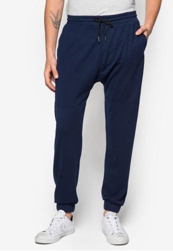 拼接抽zalora 包包評價繩休閒長褲, 服飾, 直筒褲