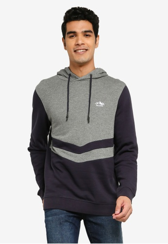 Only & Sons grey Dive Life Reg Hoodie 34370AAE061CC8GS_1