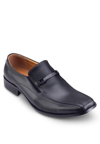 esprit分店地址方頭扣環辦公皮鞋, 鞋, 鞋