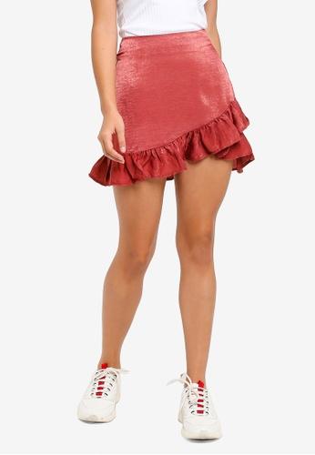 9b6176ee3d Buy Factorie Satin Ruffle Skirt Online on ZALORA Singapore